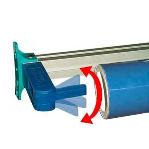 EASY CLIPARM,  QuickSnap-Halter für EMBLEM Systemregale, Rollenregale (zwei Cliparme um eine Rolle zu befestigen) | VE = 1 PAAR