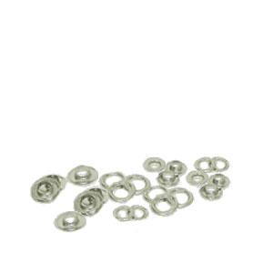EMBLEM Metallösen mit Scheiben, selbstschneidend, VE = 500 Ösenpaare |Chrome
