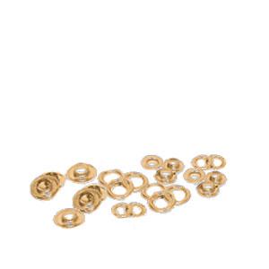 EMBLEM Metallösen mit Scheiben, selbstschneidend, VE = 500 Ösenpaare |Messing
