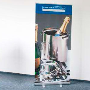 EMBLEM EASY VALUE Roll Up Display<br />Display Maße: 85 cm x 200 cm
