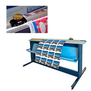 EMBLEM Mediatrim MTM-230,  manueller Rollenschneider / Querschneider mit Schneidetisch und Rundmesser | Schnittbreite: 2,30 Meter
