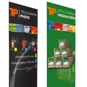 TECCO PRODUCTION Roll Up PET220 bestens geeignet für Roll Up Displays | 220µ
