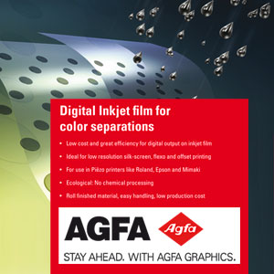 AGFA SelectJet Film Digitaler Siebdruckfilm ScreenFilm