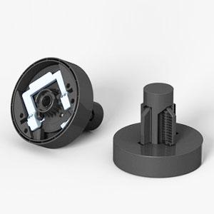 Rollenmedienadapter (Paar = 2 Stück) für Epson Stylus Pro 7700 / 7890 / 7900 / 9700 / 9890 / 9900 | C12C811241