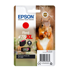 EPSON Tinte RED 478XL CLARIA PHOTO HD INK, 10,2 ml<br>für XP-8500, XP-15000
