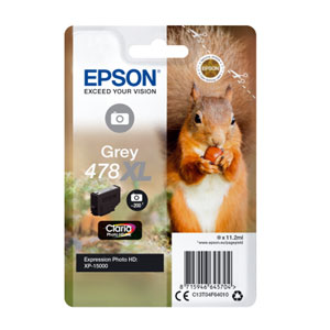 EPSON Tinte GREY 478XL CLARIA PHOTO HD INK, 10.2 ml<br>für XP-8500, XP-15000