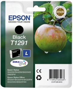 EPSON Tintenpatrone BLACK (L) DURABrite Ultra Tinte | T1291