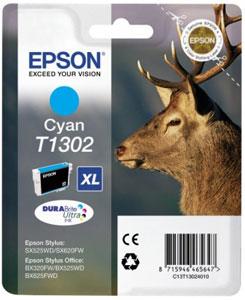 EPSON Tintenpatrone CYAN (XL) DURABrite Ultra Tinte | T1302