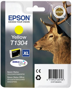 EPSON Tintenpatrone YELLOW (XL) DURABrite Ultra Tinte | T1304