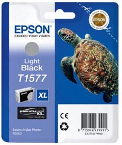 Original EPSON Tintenpatrone | Light Black|25,9ml | T1577