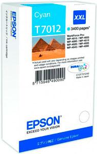 EPSON T7012 Tintenpatrone CYAN (XXL) für WP4000/4500 Series | 34,2 ml