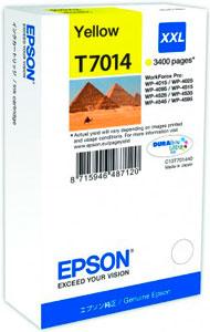 EPSON T7014 Tintenpatrone GELB (XXL) für WP4000/4500 Series | 34,2 ml