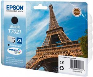 EPSON T7021 Tintenpatrone BLACK (XL) für WP4000/4500 Series | 45,2ml