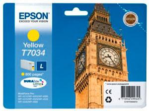 EPSON  T7034 Tintenpatrone GELB (L) für WP4000/4500 Series | 9,6 ml