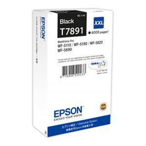 EPSON T7891 BLACK XXL Tintenpatrone, 4000 Seiten   65,1 ml<br />für WF-5110, WF-5190, WF-5620, WF-5690