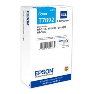 EPSON T7892 CYAN XXL Tintenpatrone, 4000 Seiten   34,2 ml<br />für WF-5110, WF-5190, WF-5620, WF-5690