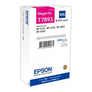 EPSON T7893 MAGENTA XXL Tintenpatrone, 4000 Seiten | 34,2 ml<br />für WF-5110, WF-5190, WF-5620, WF-5690