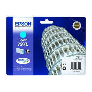 EPSON T7902 (XL) CYAN Tintenpatrone für WF Pro 5xxx/46x0 Series   17.1 ml