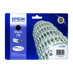 EPSON T7911 (L) BLACK Tintenpatronefür WF Pro 5xxx/46x0 Series   14.4 ml