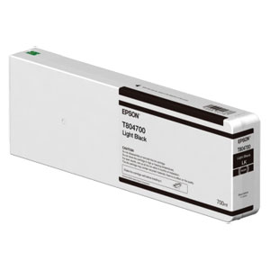 EPSON T8047 LIGHT BLACK, Tinte für Epson SureColor SC-P Serie | 700 ml