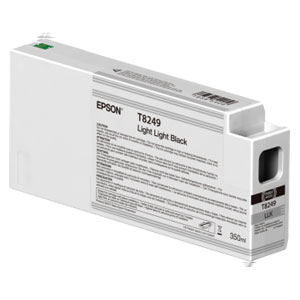 EPSON T8249 LIGHT LIGHT BLACK, Tinte für Epson SureColor SC-P Serie | 350 ml