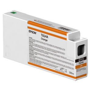 EPSON T824A ORANGE, Tinte | 350 ml<br />für Epson SureColor SC-P Serie