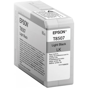 EPSON Tinte T8507 LIGHT BLACK | 80 ml<br />für Epson SureColor SC-P800