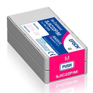 EPSON Tinte MAGENTA TM-C3500, SJIC22P(M), 32,6 ml
