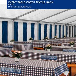 EMBLEM Event Table Cloth Textil Back | 350 g/qm