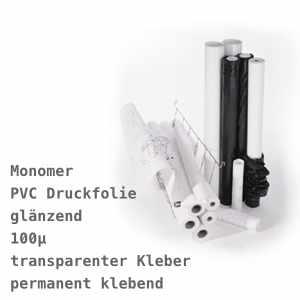 EMBLEM Monomeric Vinyl Glossy 100 C P, mit klarem, permanenten Kleber | 100µ