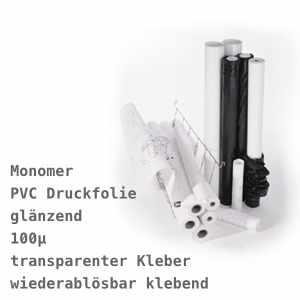 EMBLEM Monomeric Vinyl Glossy 100 C R, mit klarem, wiederablösbarem Kleber | 100µ