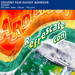 EMBLEM Solvent Film (Vinyl) adhesive white glossy | 150 µ
