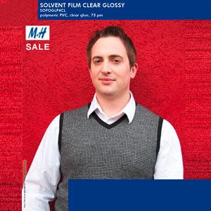 EMBLEM Solvent Film (Vinyl) Glossy Polymer Clear | 75µ