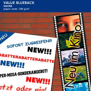 EMBLEM Water Value BlueBack, matt, nassfestes Plakatpapier für den Außenbereich | 130 g/qm
