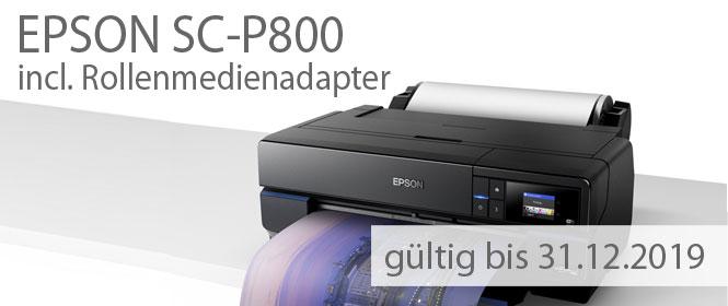 Epson SC-P800 inclusive Rollenmedien Adapter, Nur bis zum 31. Dezember