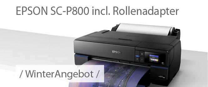 Winteraktion Epson SC-P800 inclusive Rollenmedien Adapter zum Sonderpreis