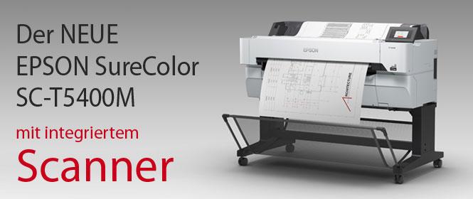 EPSON SC-T5400M, Großformatdruck mit integriertem Scanner