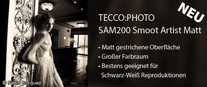 TECCO:PHOTO SAM200 - FeinArt Papier fu¨r Schwarz-Weiß Reproduktionen