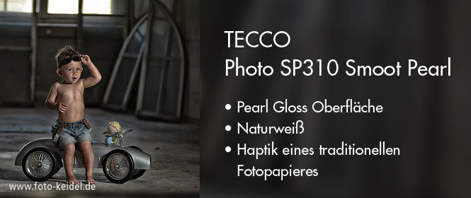 Tecco SP310 Smoot Pearl naturweisses Fotopapier mit trationeller Haptik