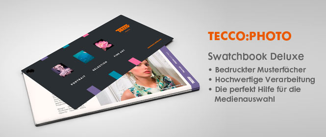 Tecco:Photo Swatchbook Deluxe, bedruckter Musterf�cher, Musterbuch