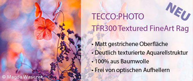 TECCO:PHOTO BFT300 - Matt gestrichenes FineArt-Papier mit deutlicher Aquarellstruktur fu¨r ku¨nstleriche Reproduktionen